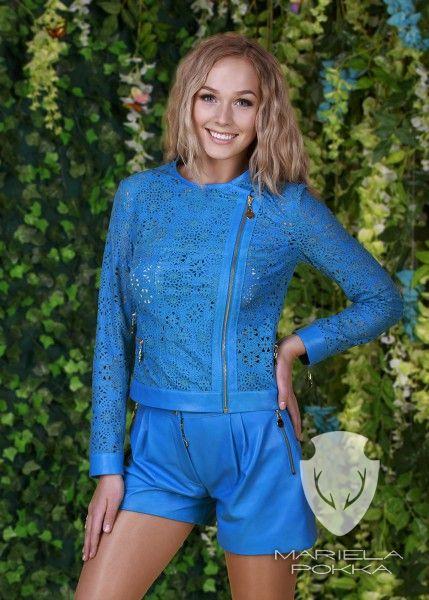 Turquoise Lace Jacket