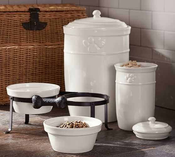Cambria Pet Treat Canister | Pottery Barn