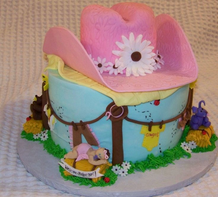 Cowgirl Baby Shower Cakes: 17 Best Images About Cowboy/Cowgirl Cakes On Pinterest