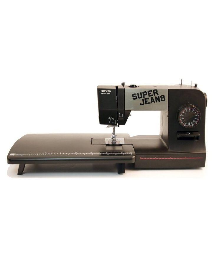 La nuova macchina per cucire MACCHINA DA CUCIRE TOYOTA SUPER JEANS SUPERJ15PE cuce facilmente oltre 12 strati di jeans @ https://www.sewshop.eu/it/macchine-da-cucire-toyota-meccaniche/macchina-da-cucire-toyota-superj15pe