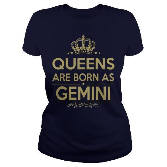 I Love HAPPY BIRTHDAY  QUEENS ARE BORN AS GEMINI T-Shirts