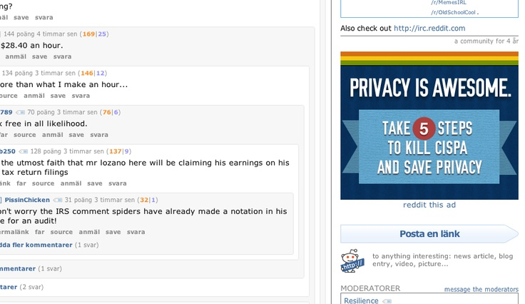 Sexy Reddit ad, and we all love privacy, right?