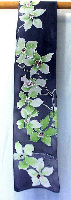Resultado de imagen para handpainted silk scarves