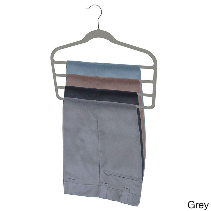 home basics 4bar velvet trouser hangers 3pack grey