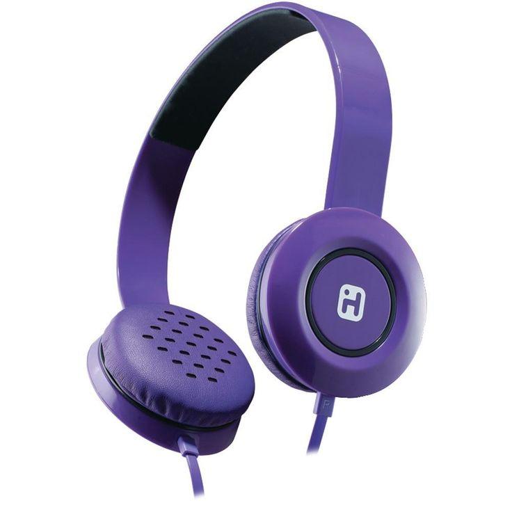 IHOME iB35UBC Stereo Headphones with Flat Cable (Purple)