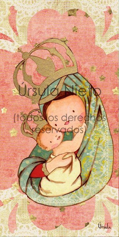 Virgen de Belén. Virgencita. Ilustraciones infantiles religiosas