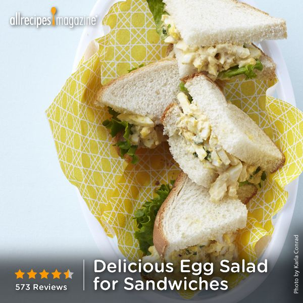 "Egg Salad for Sandwiches | ""Great egg salad recipe and so easy ..."