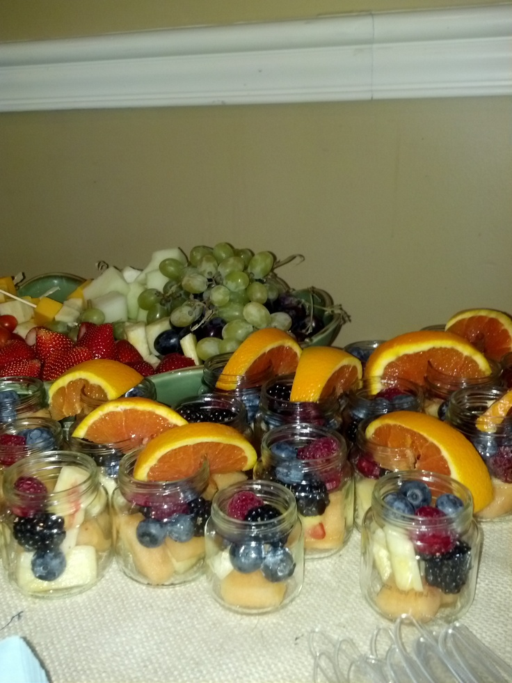 So Cute Fruit In Baby Food Jars For A Shower I Attended Today