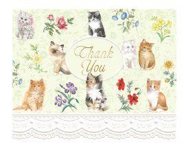 Carol Wilson Carol's Rose Garden Kittens Thank You Cards