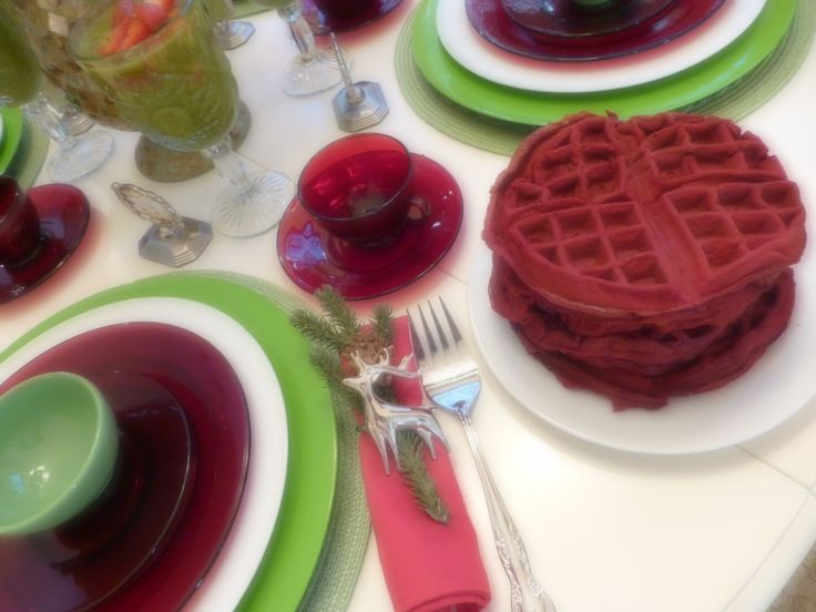 Here is a breakfast I did for my family to kick off the Christmas season  You can see more details on my blog.