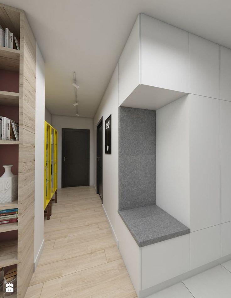 Siedzisko w zabudowie - zdjęcie od Dizajnia art - studio projektowe - Hol / Przedpokój - Styl Skandynawski - Dizajnia art - studio projektowe