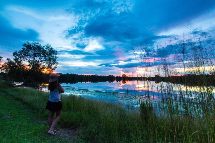Watching the sun set over Lake Jabiru