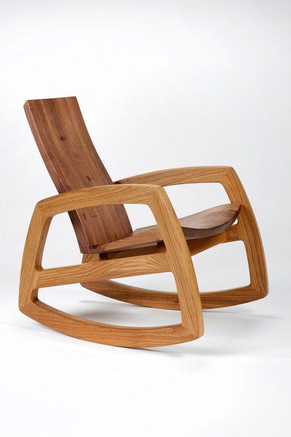 Surprising Cascade Rocking Chair In Walnut And White Oak Tables In Inzonedesignstudio Interior Chair Design Inzonedesignstudiocom