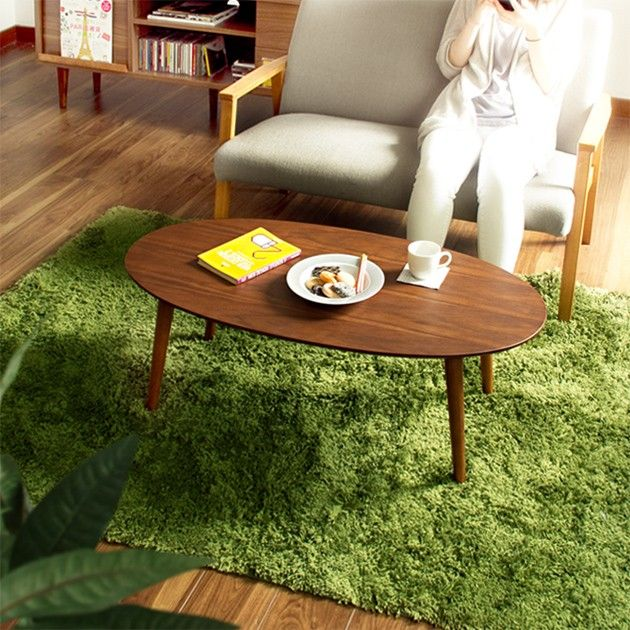 エモ 折りたたみテーブル オーバル(ローテーブル/家具/リビング ... 商品説明