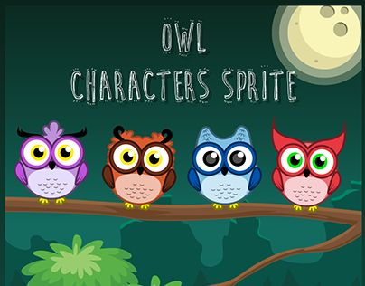 """Check out new work on my @Behance portfolio: """"Owl Character Spritesheets"""" http://be.net/gallery/44568217/Owl-Character-Spritesheets"""