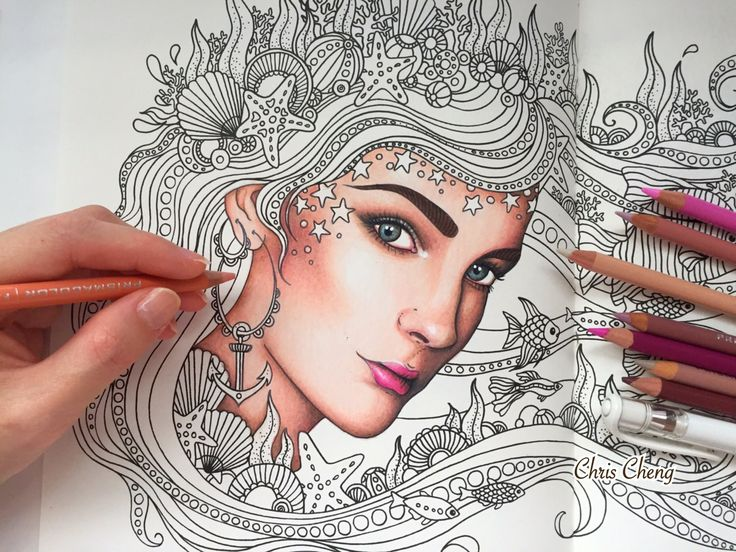 Coloring Pages Of Children S Faces : Best adult coloring book pages and doodles images