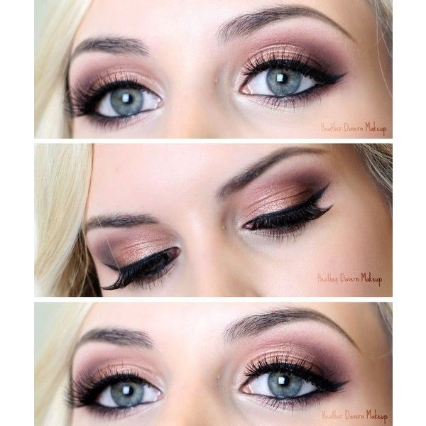 26 Easy Makeup Tutorials for Blue Eyes ❤ liked on Polyvore featuring beauty products, makeup and eye makeup