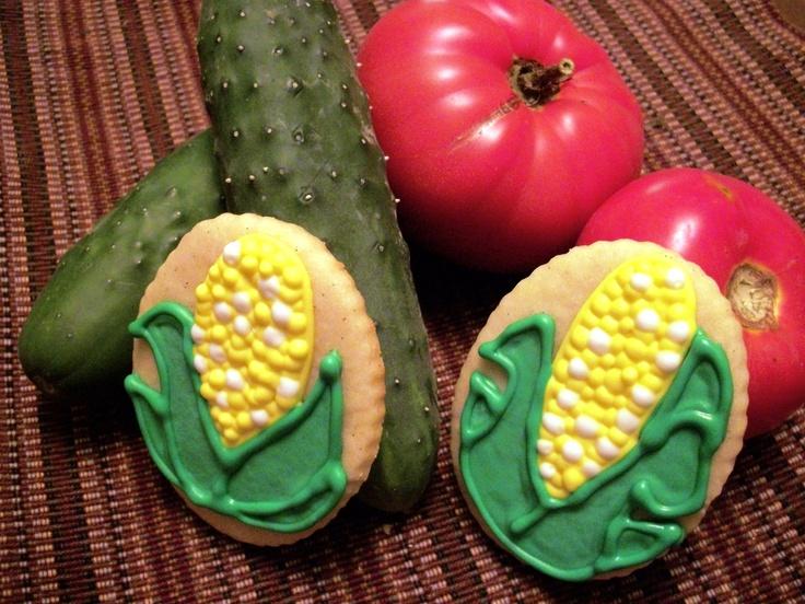 Corn on the Cob Cookie Tutorial _ #Summertime #Picnic Foods #Baking #Bar-b-que fun food