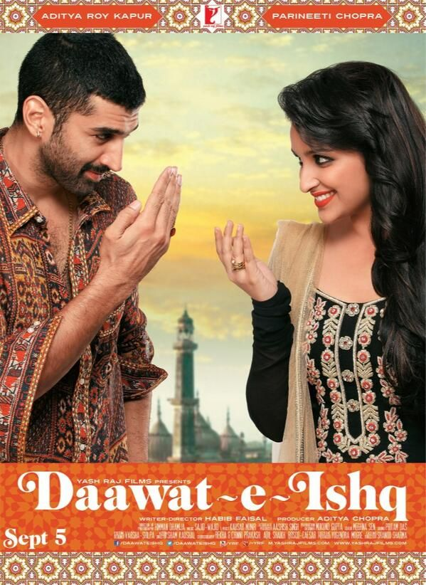 In Daawat-e-Ishq Tariq Haider (Aditya Roy Kapur ) is playing a role of Lucknawi Cook who can charm anybody with the aroma and flavours of his Biryani and Kebabs.  A deliciously romantic coming together of Gulrez Qadir (Parineeti Chopra) a Hyderabadi shoe-sales girl disillusioned with love because of her encounters with Dowry-Seeking Man.