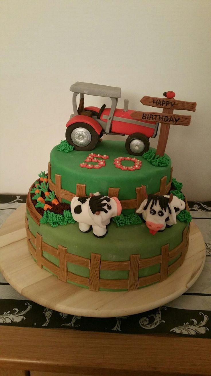 Bauernhof Torte