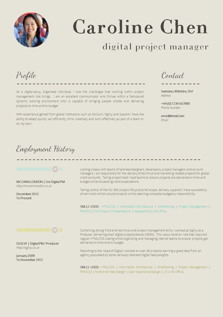 25 beautiful professional cv examples ideas on pinterest
