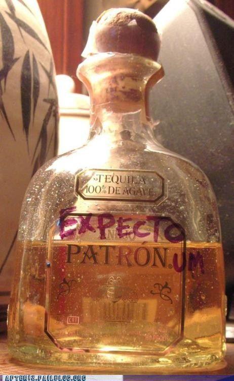 EXPECTO PATRONUM: Harry Potter Jokes, Happy Thoughts, Expectopatronum, Funny Pics, 21St Birthday, Tequila, Harry Potter Style, Expecto Patronum, Harry Potter Humor