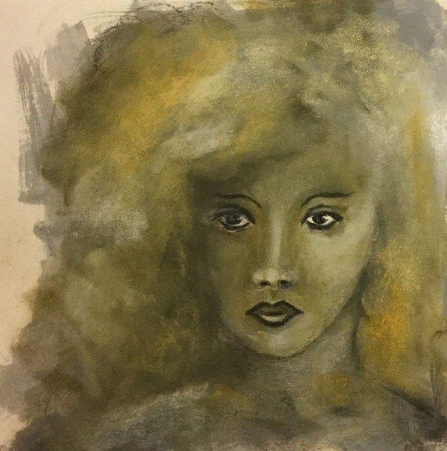 Creative JumpStart 2017 - Inspiriert durch Pam Carriker, gemalt mit Kreide, PanPastel und Acrylmedien. Mixed Media Art by Daniela Rogall