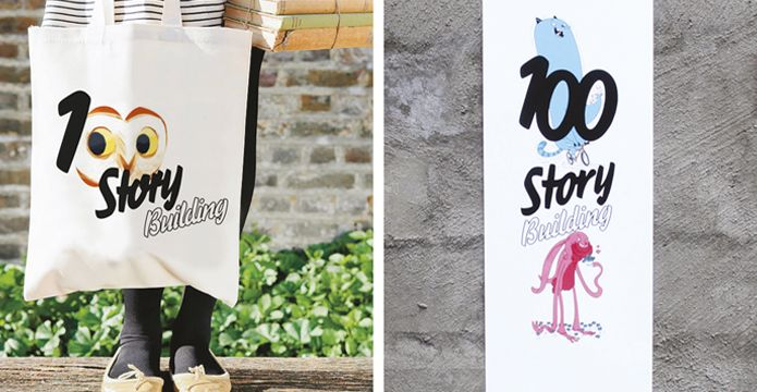 100 Story Building brand applications