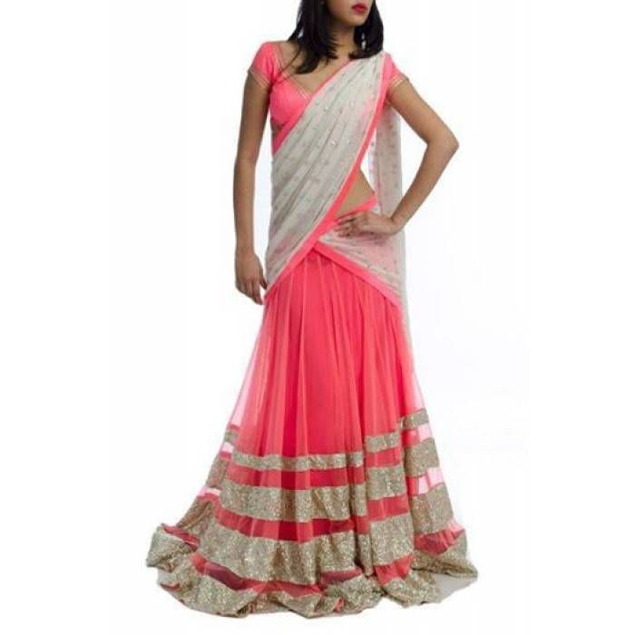 Designer Pink Lehenga Choli with free Shipping offer.