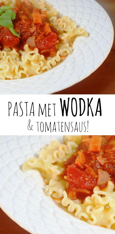 Pasta met WODKA en tomatensaus alla Nigella Lawson. pasta / makkelijk / simpel / snel / saus / tomatensaus / doordeweeks / vodka / recept /recepten