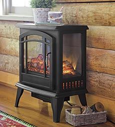 Panoramic Electric Stove Heater ~ Instead of the ugly electric heater you can look like you are burning wood!
