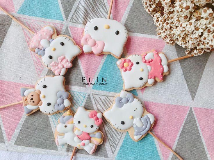 Sweet Hello Kitty cookies by  elins_cookie