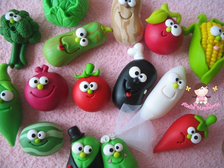 frutas y verduras porcelana fria