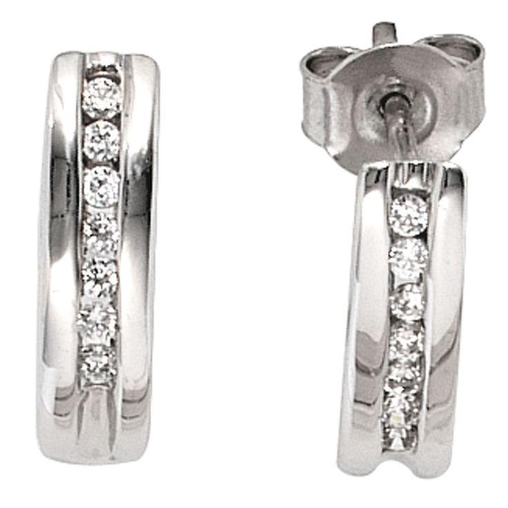Halbcreolen 585 Gold Weißgold 14 Diamanten Brillanten 0,15ct. Ohrringe Creolen  https://www.ebay.de/itm/Halbcreolen-585-Gold-Weissgold-14-Diamanten-Brillanten-0-15ct-Ohrringe-Creolen-/152608540147?refid=store&ssPageName=STORE:accessorize24-de