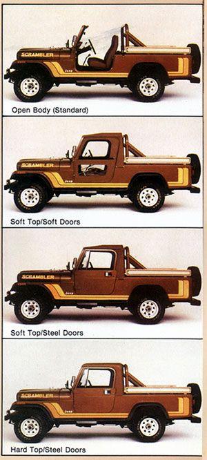 Jeep Scrambler!  Had one in high school