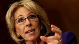 Education nominee Betsy DeVos wins Senate confirmation vote - BBC News😳😡