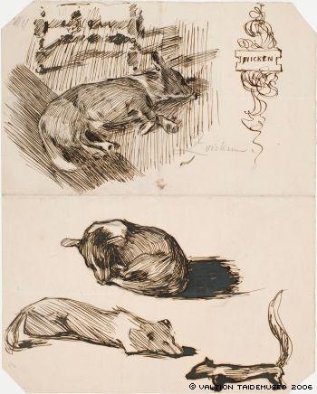 Akseli Gallen-Kallela: Zvicken, nukkuva koira