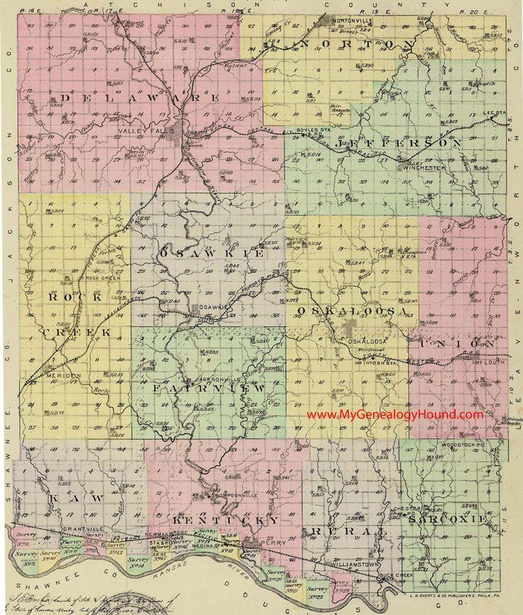 Best Vintage Kansas County Maps Images On Pinterest Genealogy - Ks map