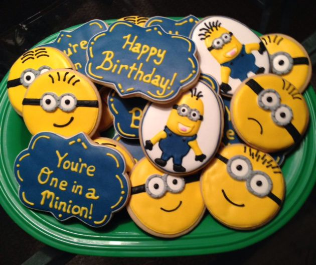 Birthday Love and Minion Cookies
