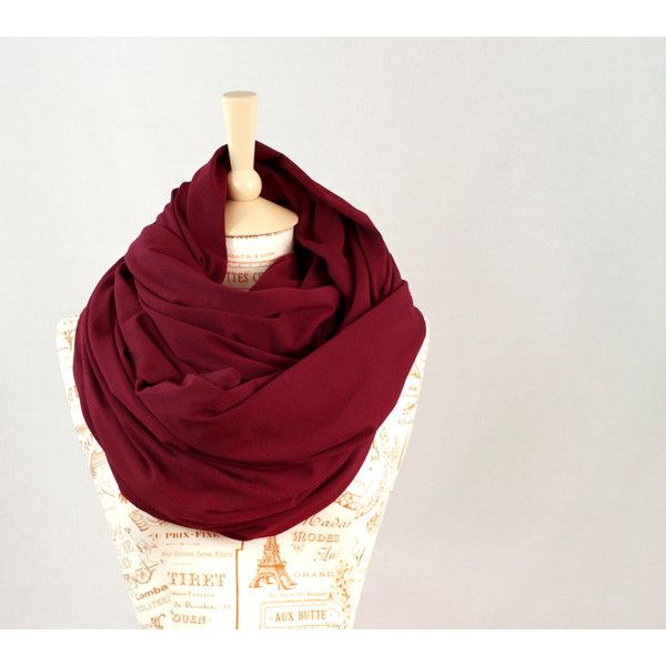 Chunky Scarf, Infinity Scarf, Maroon Scarf, Burgundy Winter Scarf... ($42) ❤ liked on Polyvore featuring accessories, scarves, chunky circle scarf, chunky infinity scarves, infinity scarves, tube scarves and oversized scarves