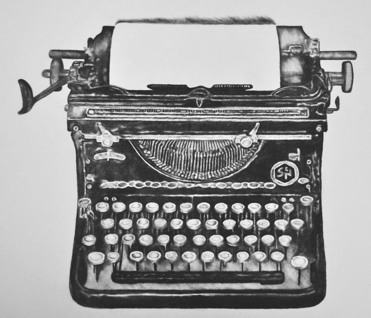 antique typewriter by thedeadreprise