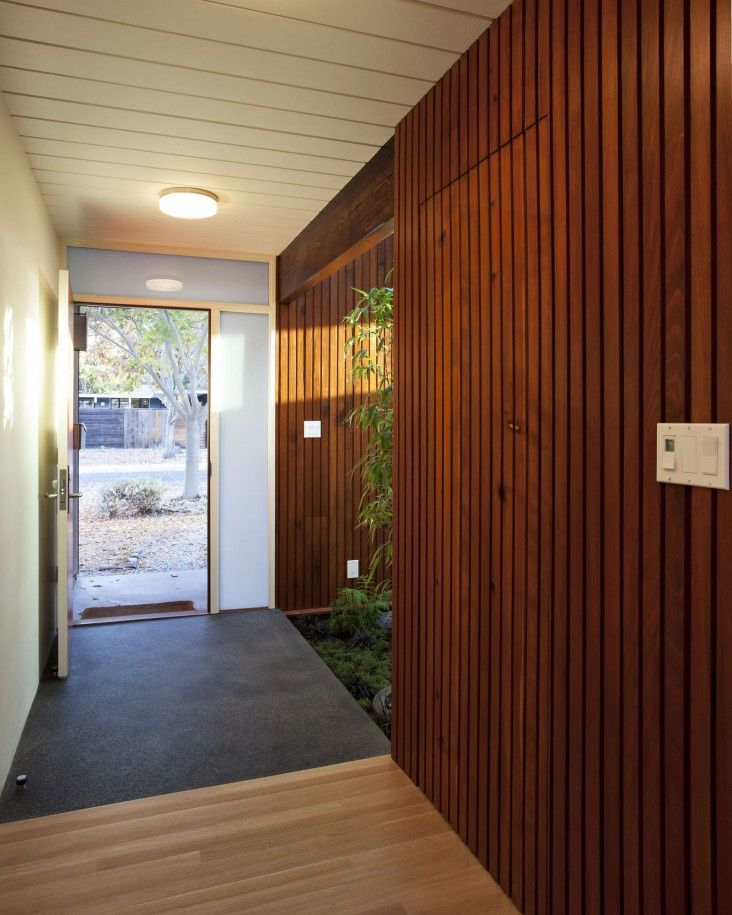 Luxury and Eichler with Lighting  Corridor And Wooden Wall Design With Brown Color And Unique Models With Modern Lams And Open Door With Street Anu2026 ... & Luxury and Eichler with Lighting : Corridor And Wooden Wall Design ... pezcame.com