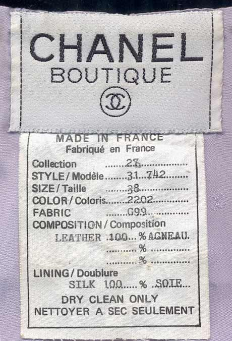 chanel clothing labels authentic - Google Search