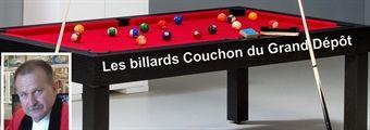 Gérard Couchon et ses tables de billard à la Roche de Glun