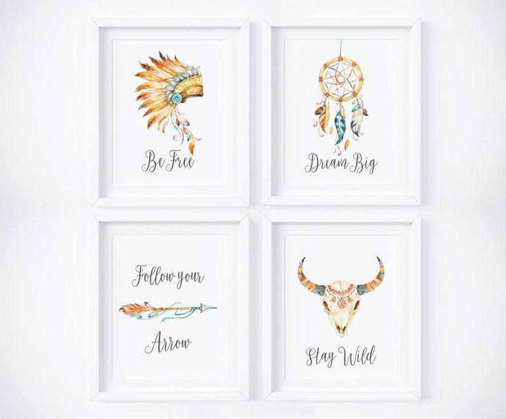 Tribal Print Set, Boho Printables, Tribal Prints, Tribal Nursery Decor, Tribal Nursery Prints, Boho Nursery Printable, Tribal Nursery Art by AdornMyWall on Etsy