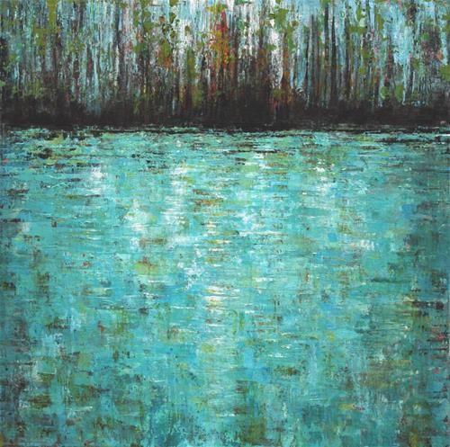 "Daily+Paintworks+-+""Woodland+Pond""+-+Original+Fine+Art+for+Sale+-+©+Sue+McLean"