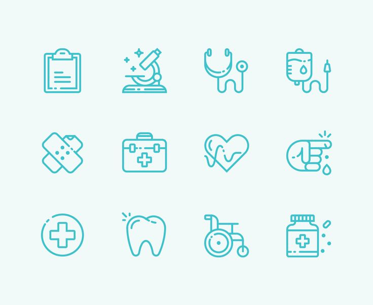 Free Medical Icons Icons AI Free Graphic Design Icon Medical Outline Resource SVG Vector