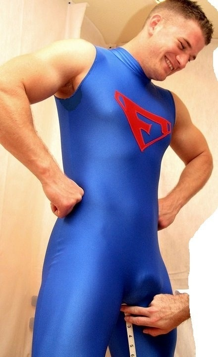 image Mens lycra gay his slim and remarkable body