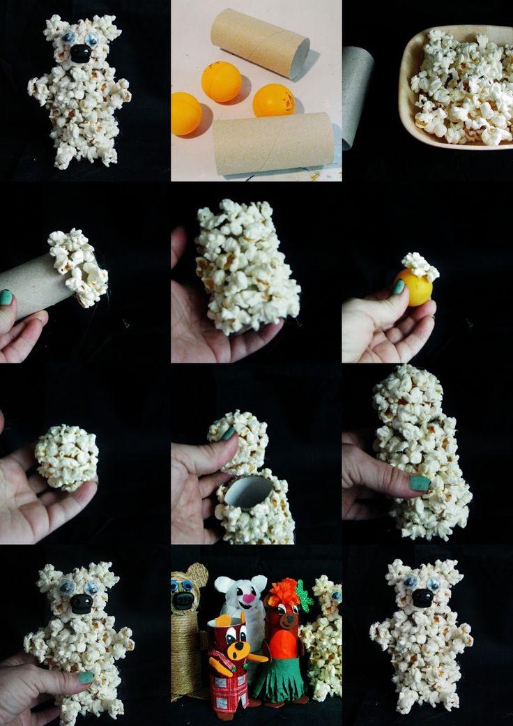 Ideas for each plastic DIY - Joanna Wajdenfeld: Toys from the rolls - Bears