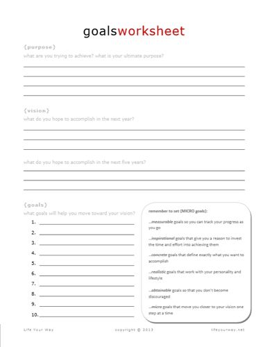 Worksheets Free Printable Goal Setting Worksheets 1000 images about goal setting and attaining on pinterest see best photos of printable sheets inspiring template free worksheet tra
